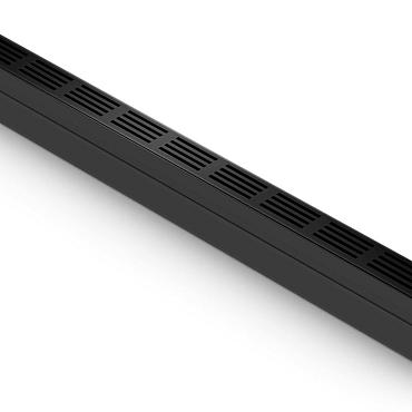 ACO Slim-Line met zwart alu rooster 100