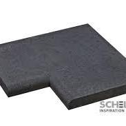 Oud Hollands Zwembadrand HOEK (100X100X5 CM) Carbon