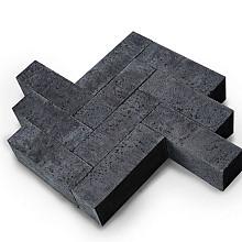 Oud Hollands Dikformaat 21X7X8 CM Carbon