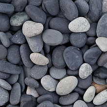 Beach Pebbles Zwart 8/16
